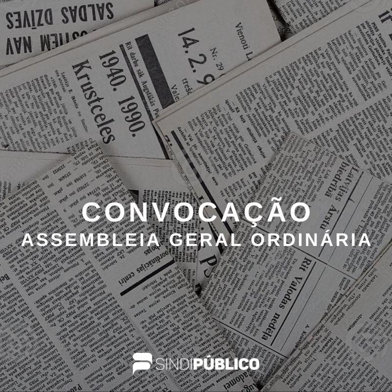 Publicado edital de convocação de Assembleia Geral Ordinária