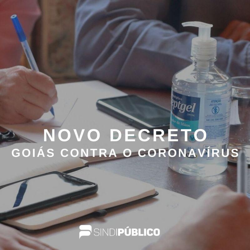 NOVO DECRETO DO GOVERNO DE GOIÁS VISA RETARDAR A PROPAGAÇÃO DO CORONAVÍRUS NO ESTADO