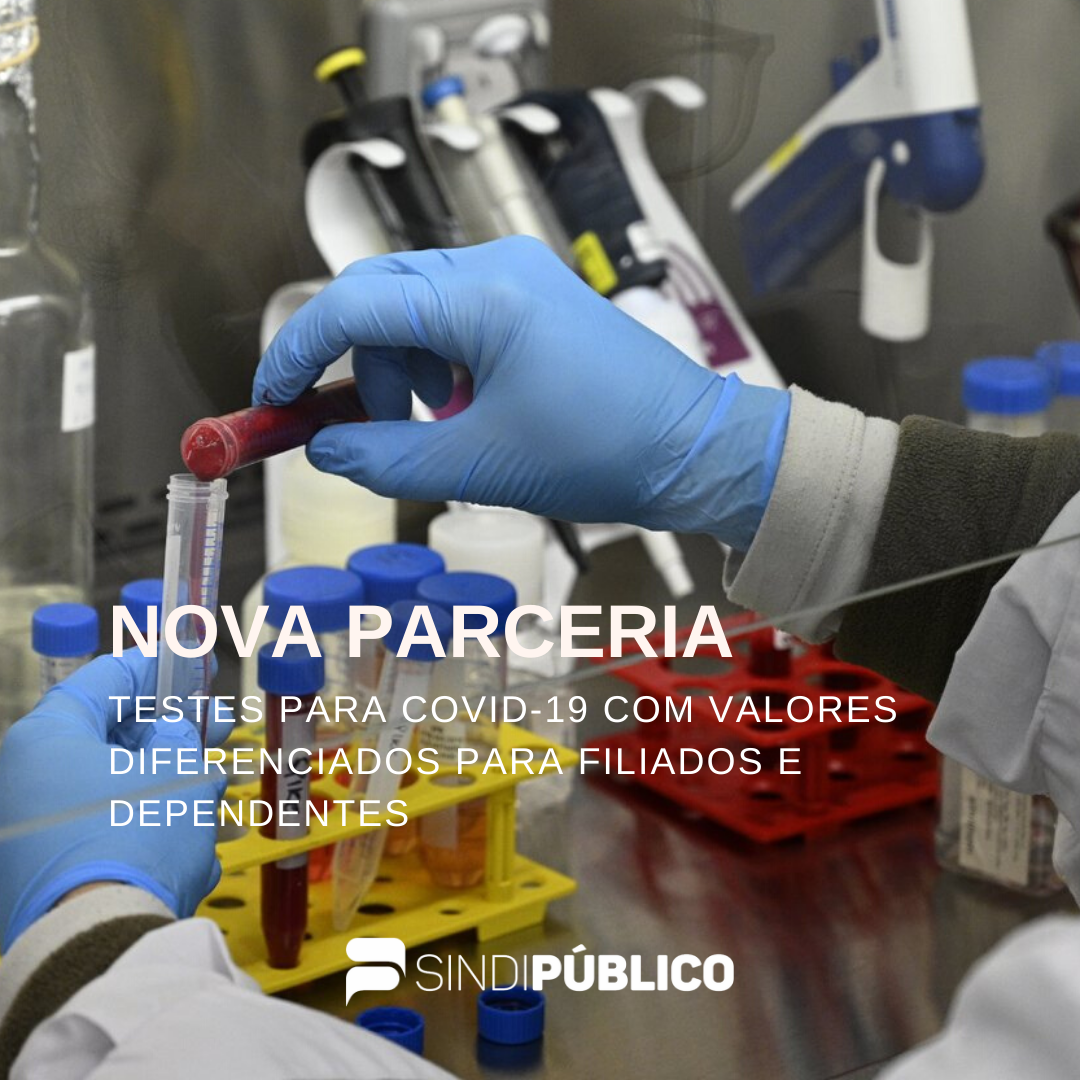 TESTES PARA COVID-19 COM VALORES DIFERENCIADOS PARA FILIADOS E DEPENDENTES