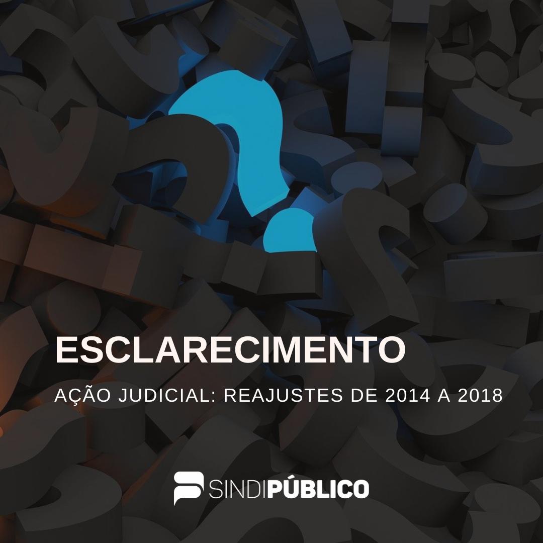 AÇÃO JUDICIAL: REAJUSTES DE 2014 A 2018