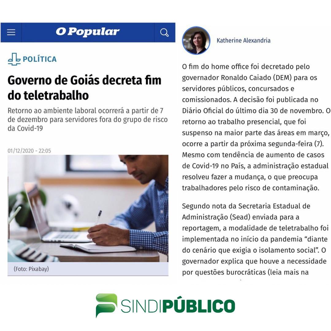 O POPULAR DESTACA A ATUAÇÃO DO SINDIPÚBLICO