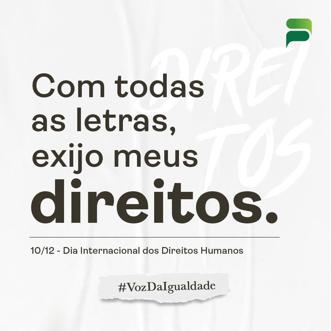 10/12 – DIA INTERNACIONAL DOS DIREITOS HUMANOS