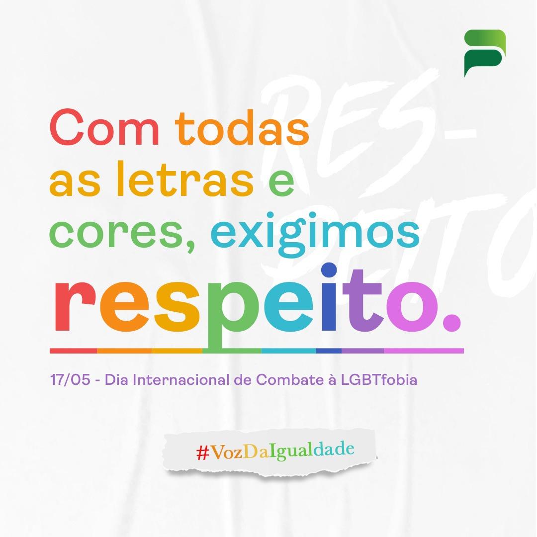 17/05 – DIA INTERNACIONAL DE COMBATE À LGBTfobia