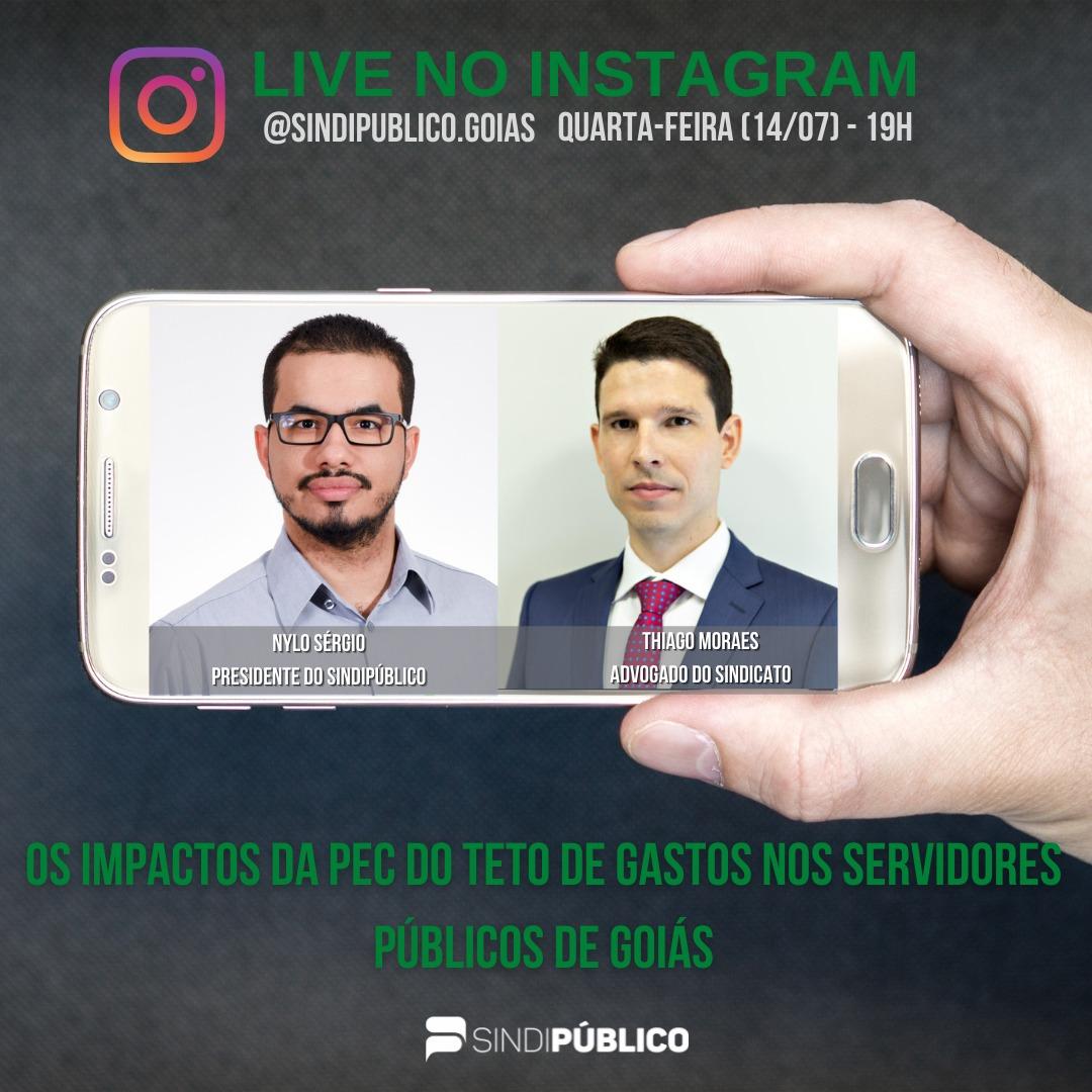 LIVE (14/07) 19H- OS IMPACTOS DA PEC DO TETO DE GASTOS NOS SERVIDORES PÚBLICOS DE GOIÁS