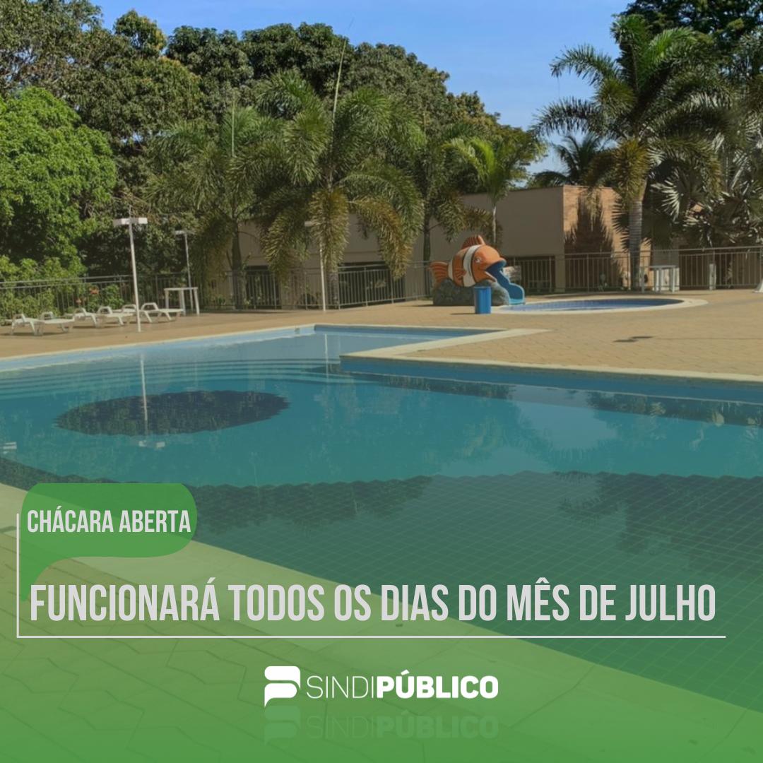 CHÁCARA ABERTA – FUNCIONARÁ TODOS OS DIAS DO MÊS DE JULHO