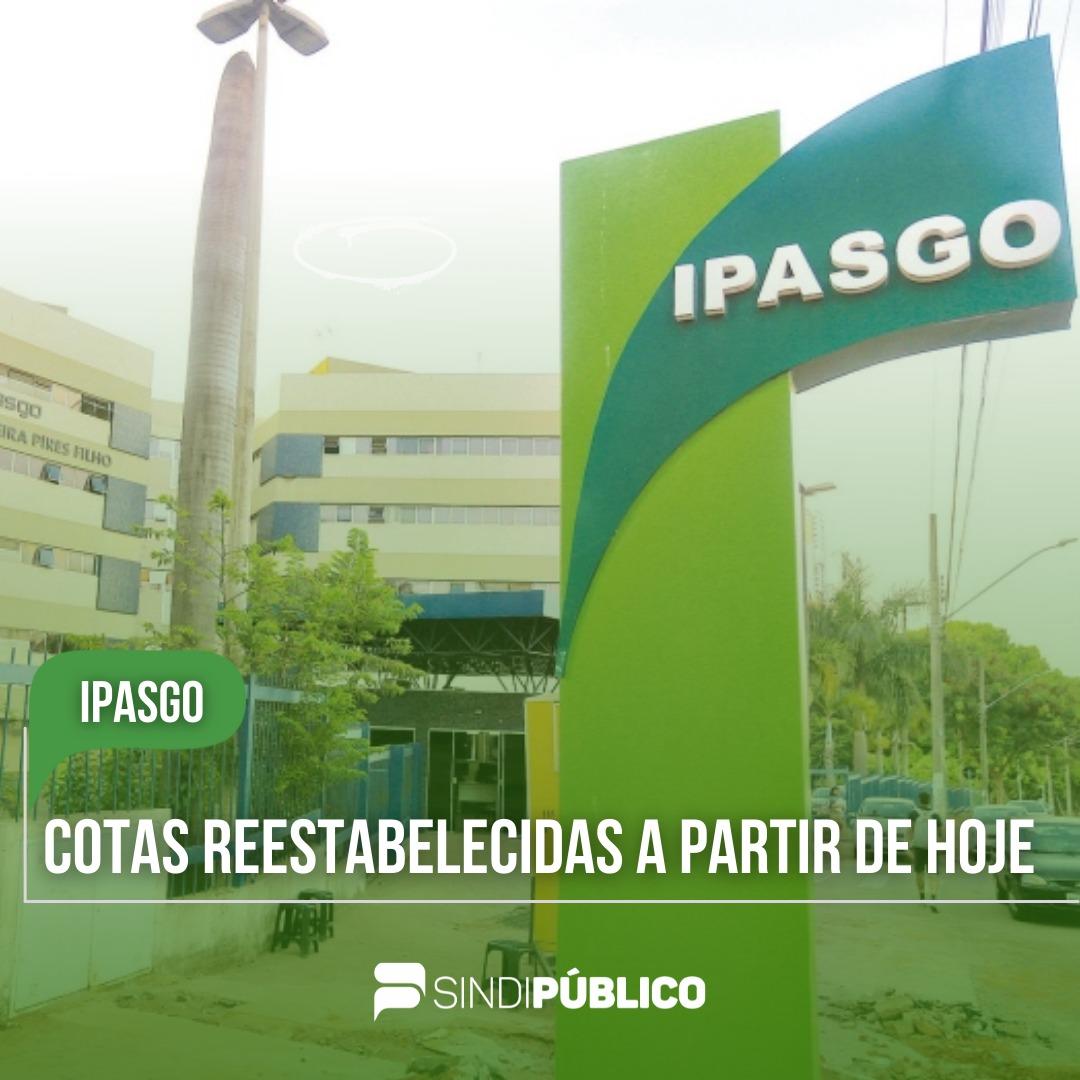 IPASGO ANUNCIA FIM DO CORTE DE COTAS PARA ATENDIMENTO