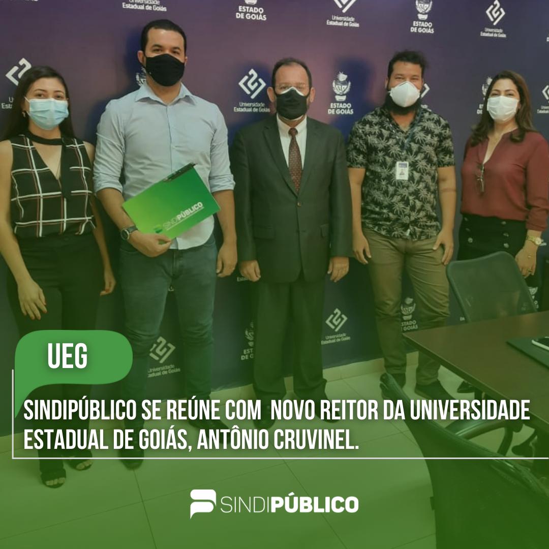 SINDIPÚBLICO SE REÚNE COM NOVO REITOR DA UNIVERSIDADE ESTADUAL DE GOIÁS, ANTÔNIO CRUVINEL
